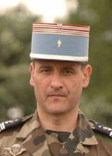 Le Colonel Hubert Cottereau, chef de corps du 2e Régiment de Hussards 2009-2011